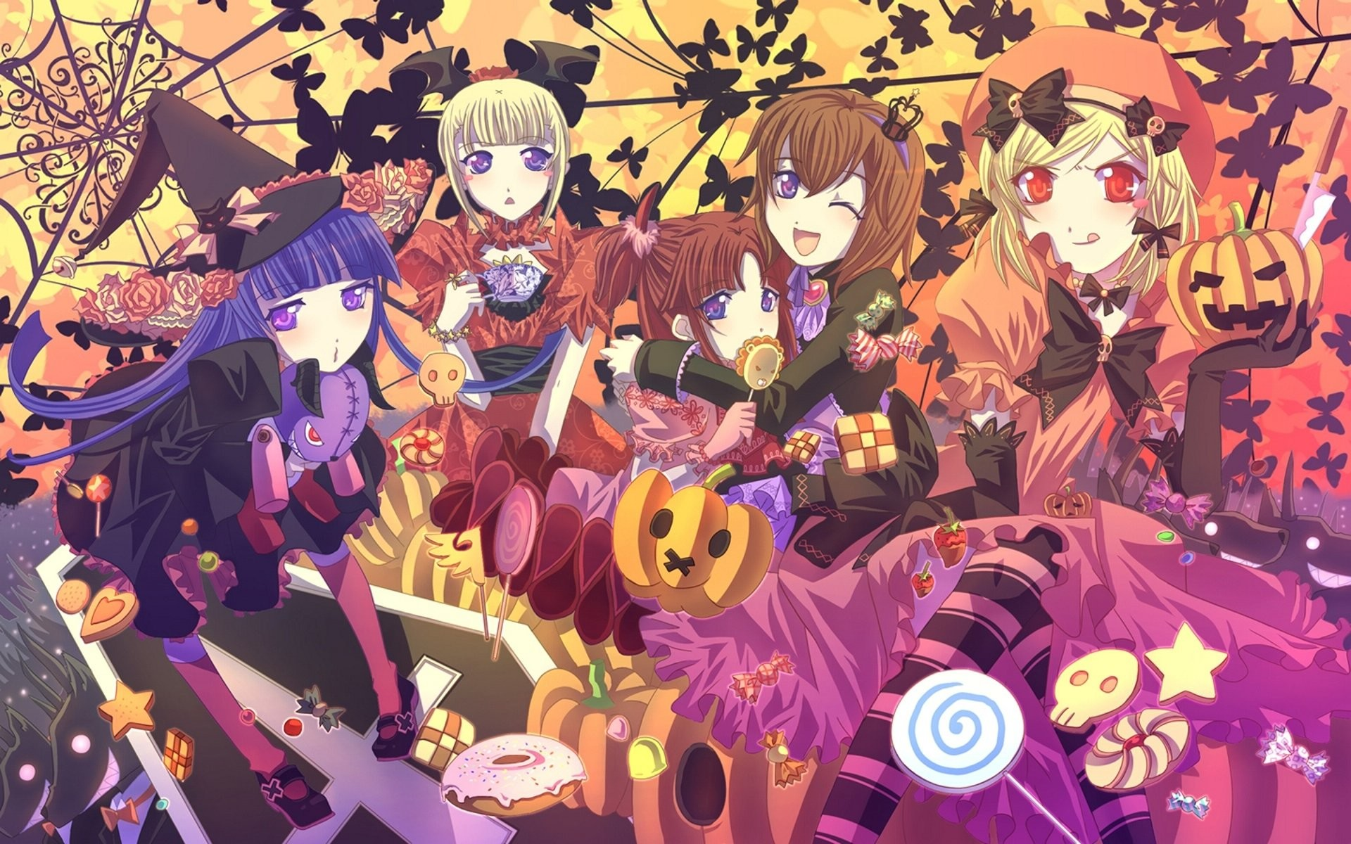 1920x1080p Wallpaper Girl Anime Halloween Wallpaper 54 Images