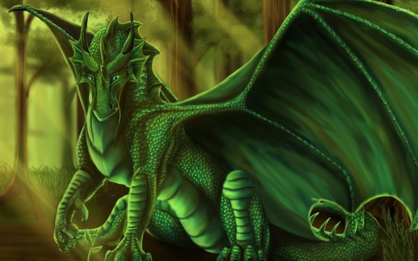 Beautiful Green Dragon
