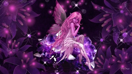 fairy wallpapers dark butterfly pink hd crystal collection