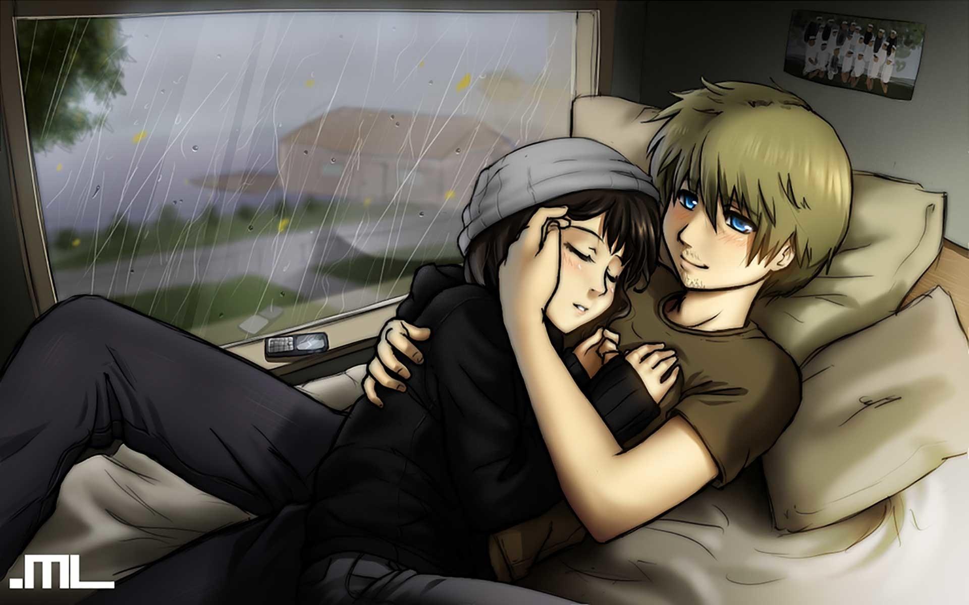 Cute Couple Hug Wallpaper For Mobile Cute Anime Couple Wallpaper 70 Images