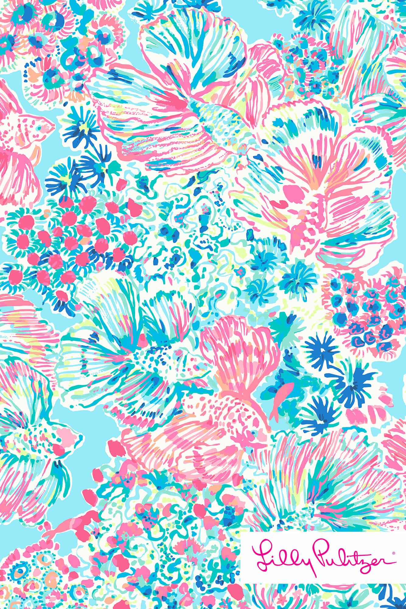 Floral Lilly Wallpaper Pulitzer Desktop