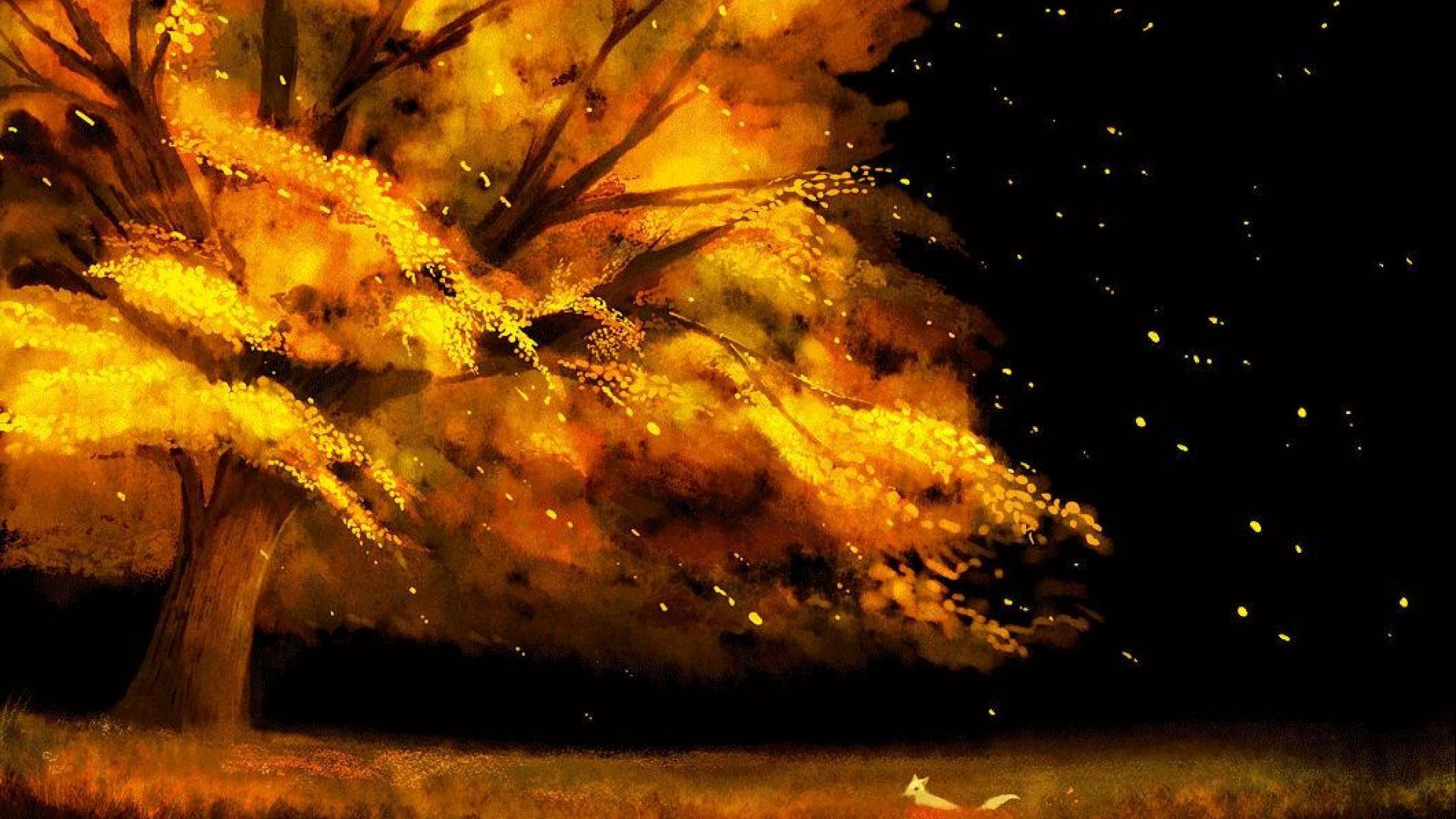 Fall Leaves Hd Desktop Wallpaper Anime Fall Wallpapers 59 Images