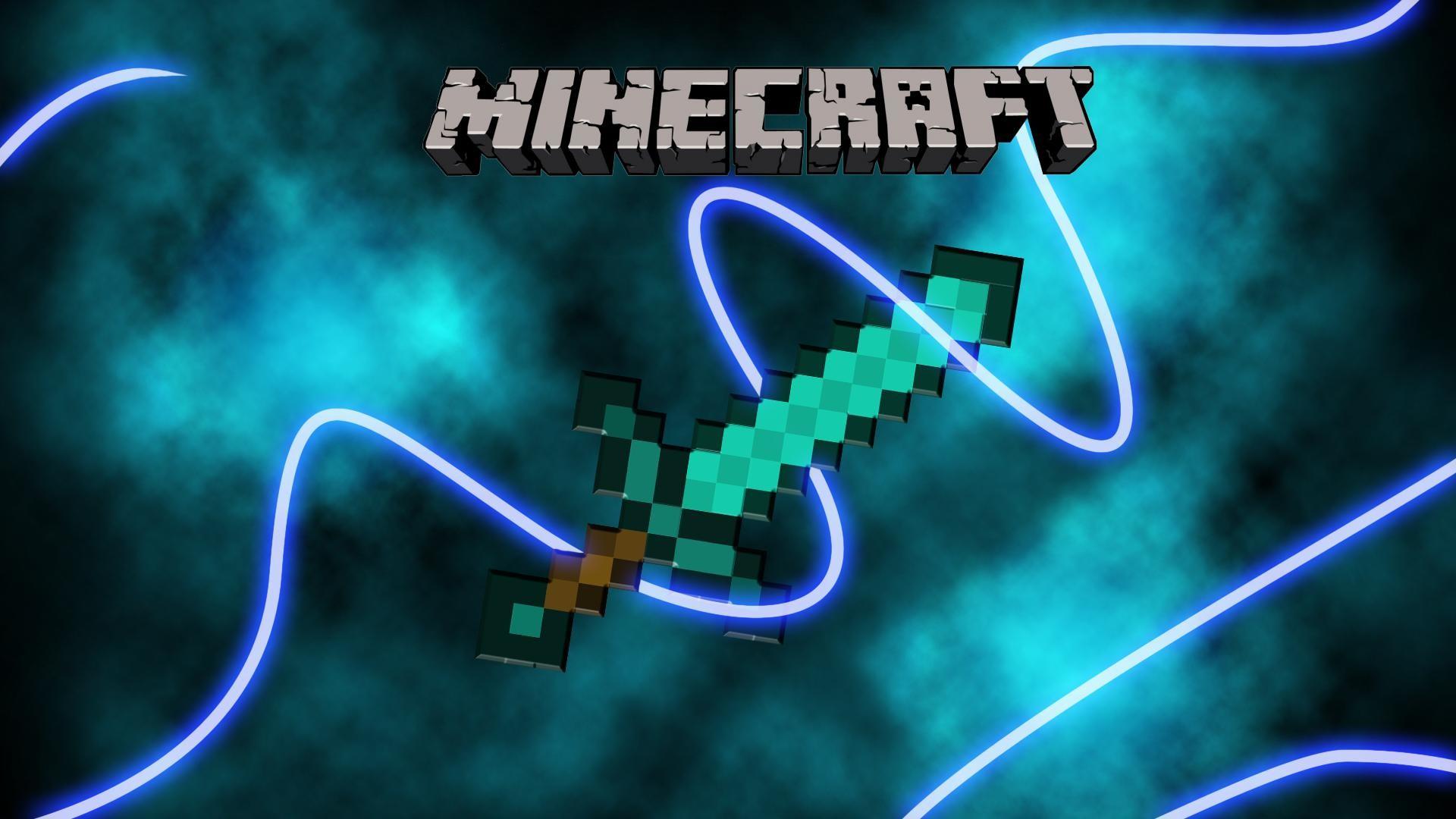 Zendha Creeper Blue Minecraft Wallpaper