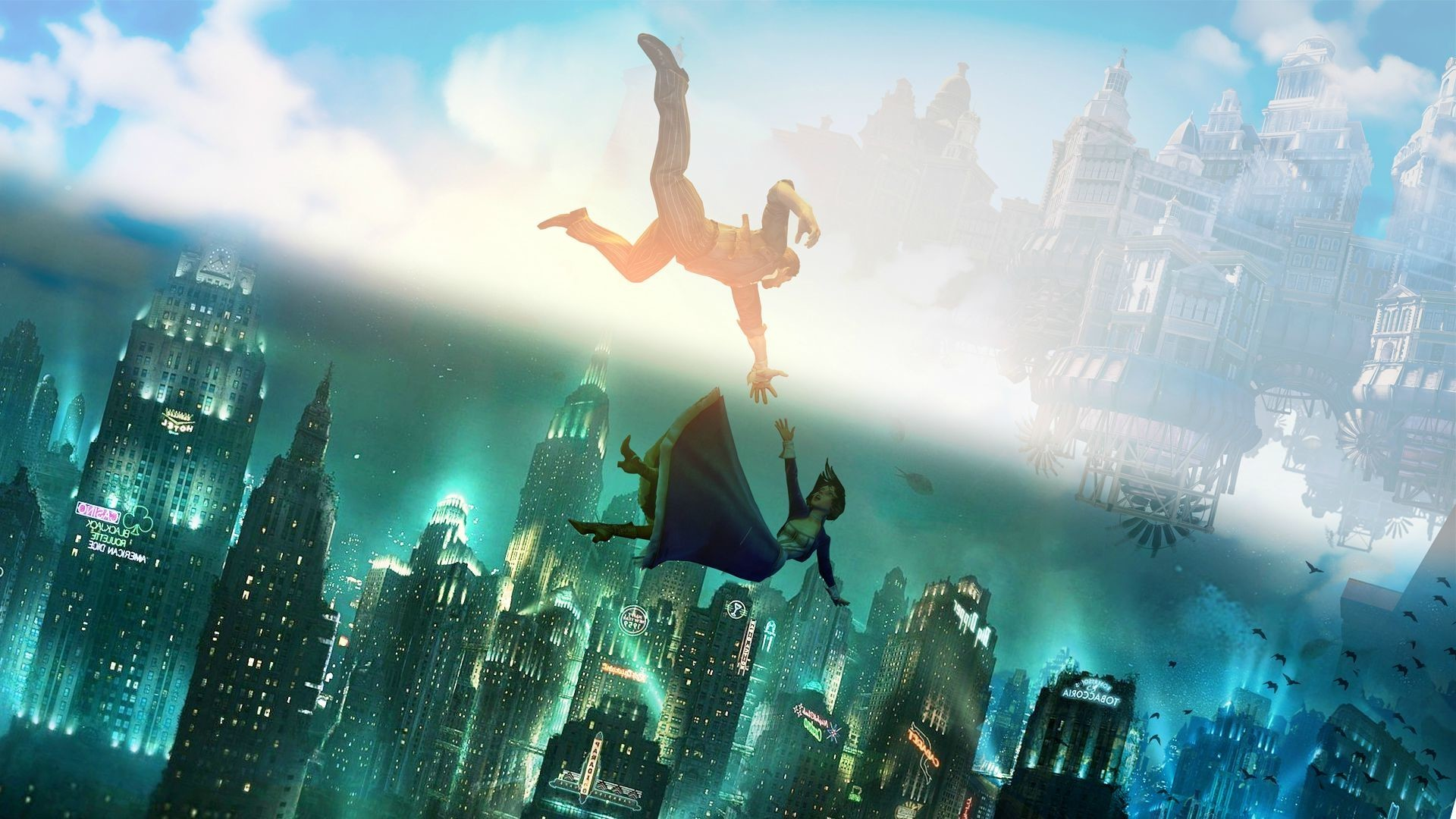 Bioshock Infinite Falling Wallpaper Hd A Series Of Unfortunate Events Wallpapers 73 Images