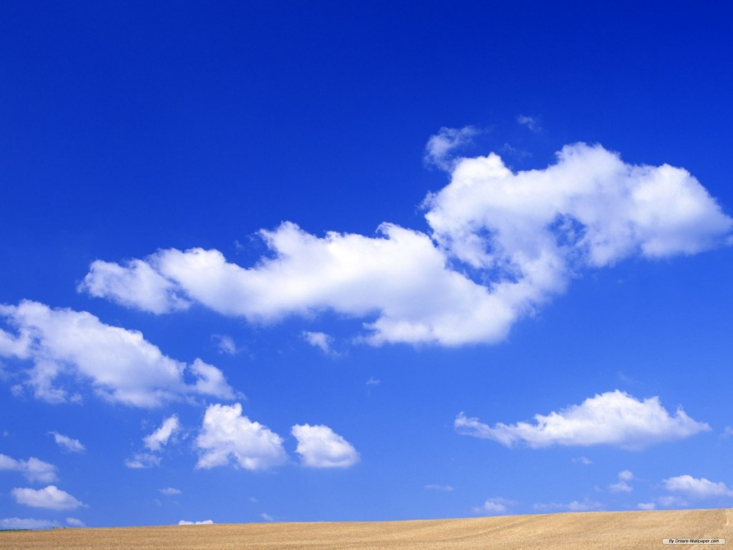 wallpaper blue sky clouds | gendiswallpaper