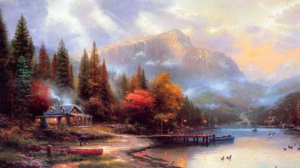 Thomas Kinkade Autumn Paintings