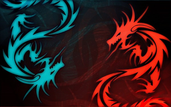 Red and Black Dragon