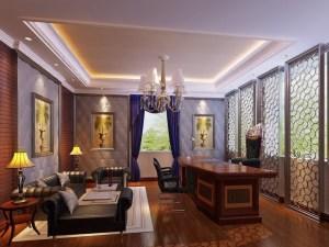 office 3d luxury hall resolution