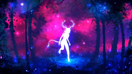 neon purple backgrounds hd colors forest 1080p popular most horns jungle fantasy