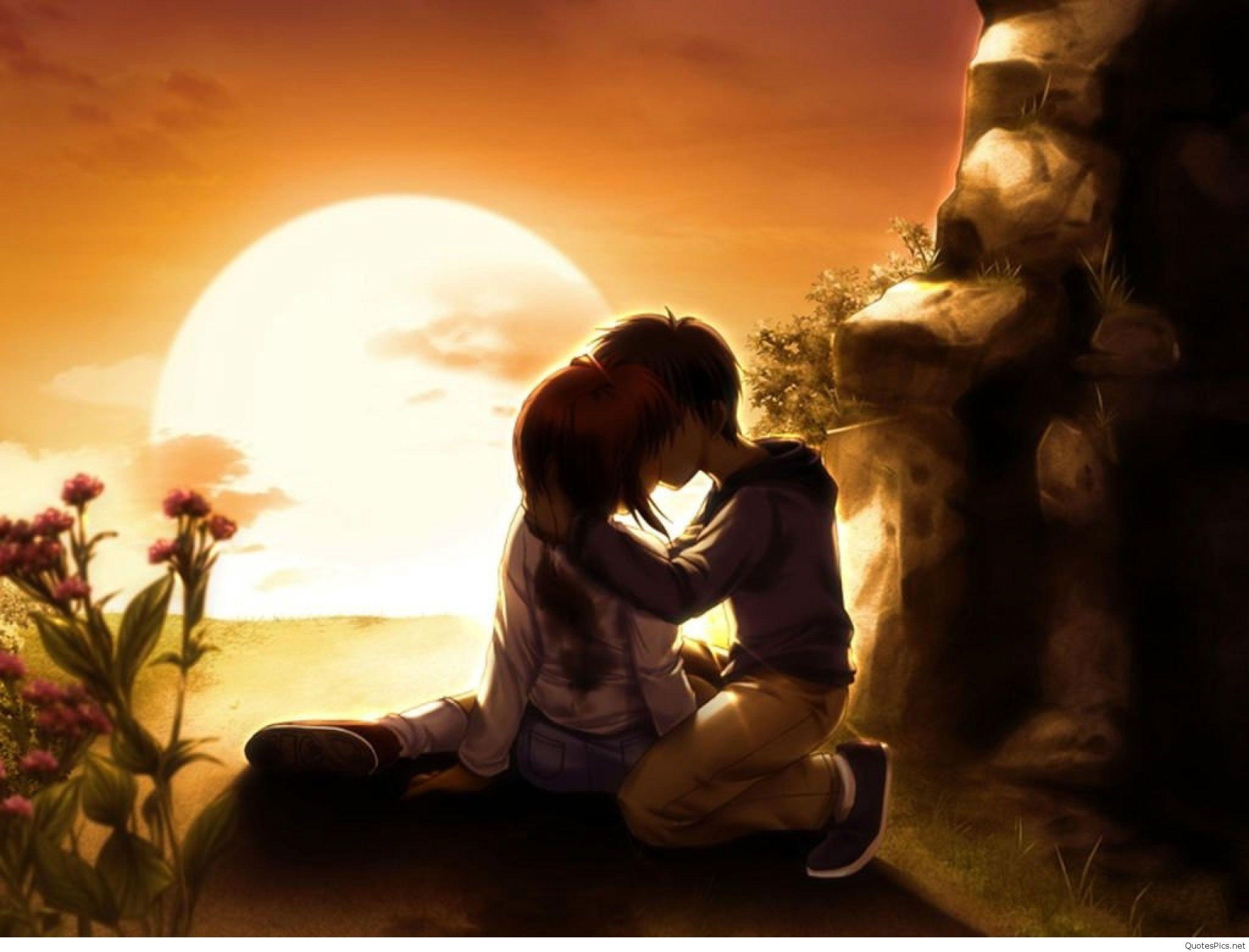 Sad Boy And Girl Love Wallpaper Hd Anime Love Wallpaper 78 Images
