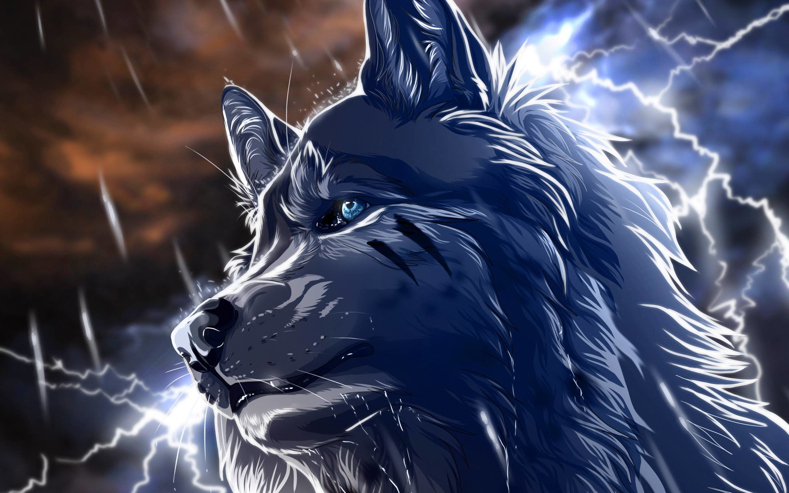 cool anime wolf wallpapers