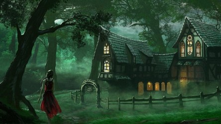 spooky forest hd fantasy medieval graveyard creepy 1080 1920 wallpapers cottage getwallpapers backiee