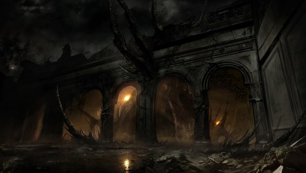 dark fantasy alone background wallpapers hd landscape concept amazing backgrounds game epic cool windows abyss horror desktop themes computer