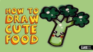 kawaii draw drawings easy broccoli kw garbi drawing simple doodles teaching chainimage getwallpapers