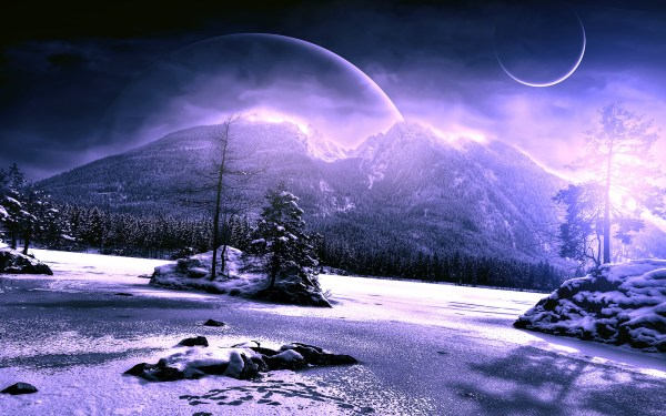 alien planet landscapes wallpaper