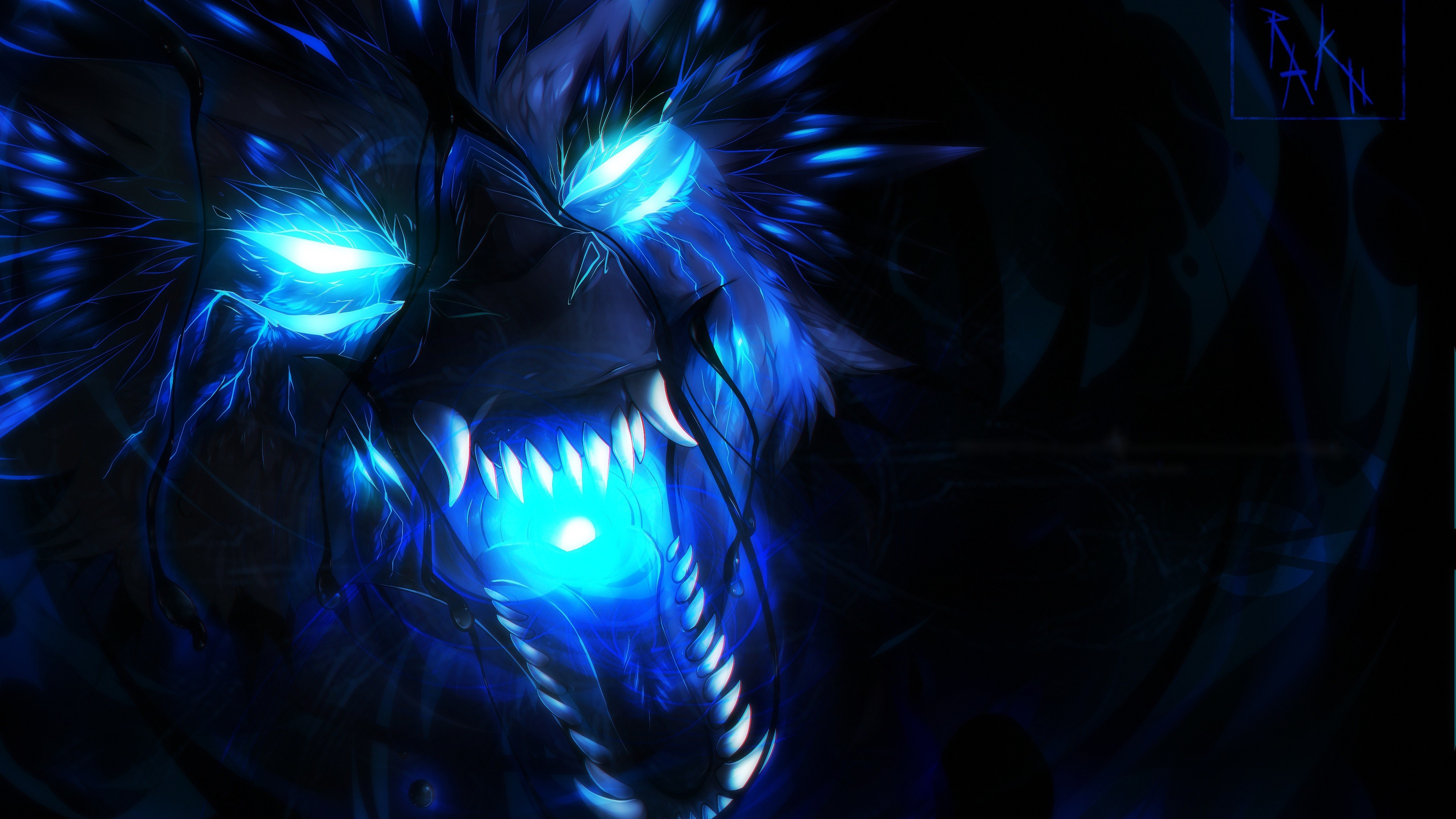 1306775 blue flame wolf wallpaper 3840x2160 for samsung