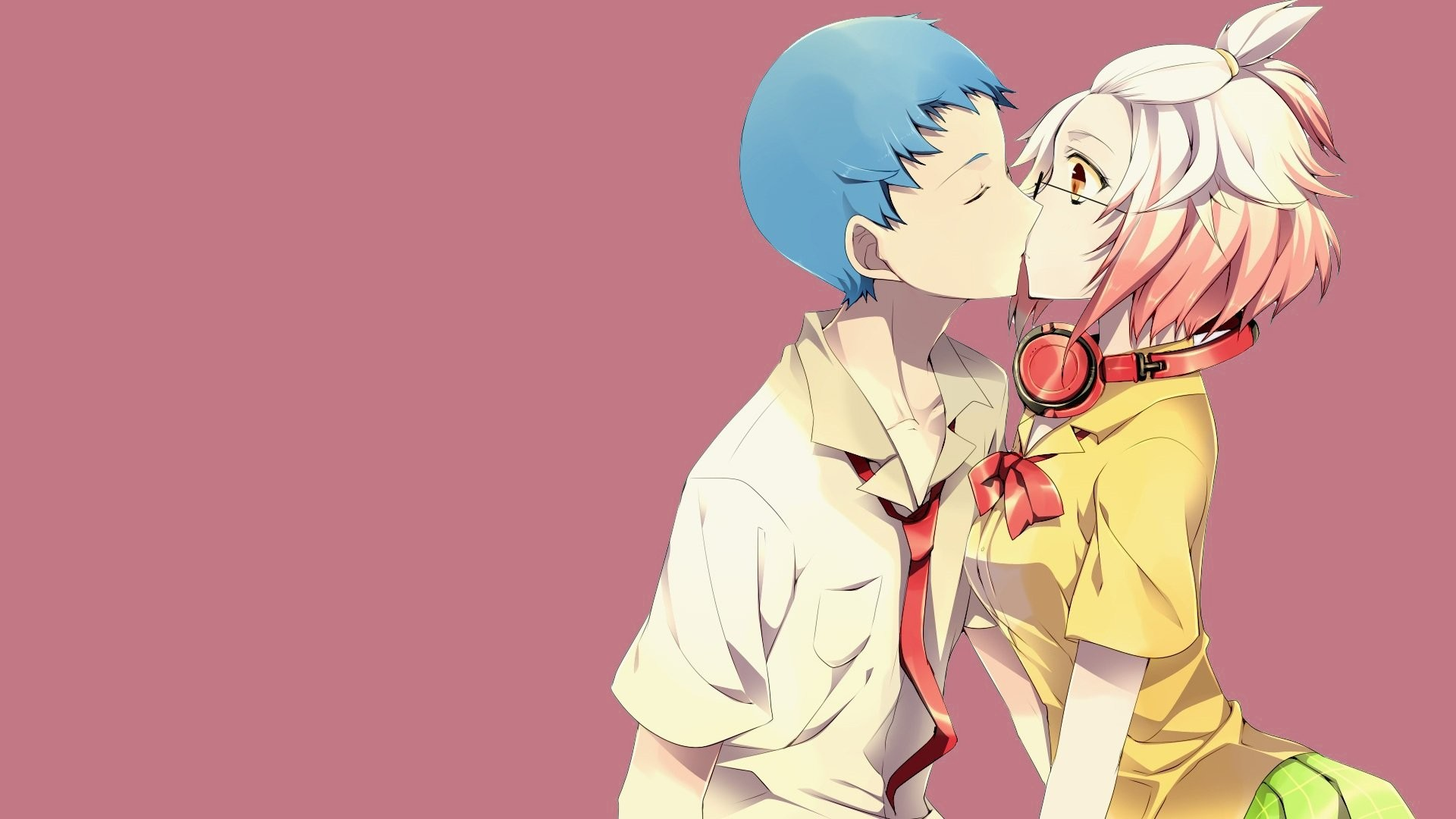 Cute Couple Kiss Wallpaper Download Anime Couple Wallpaper 74 Images