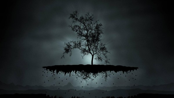 Dark Abstract Tree Art
