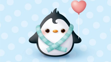penguin cute christmas penguins animated clipart