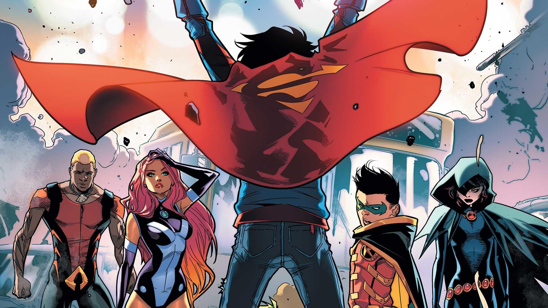 Superman Super Girl Super Boy Wallpaper Raven Teen Titans Dc Comics Wallpaper 73 Images