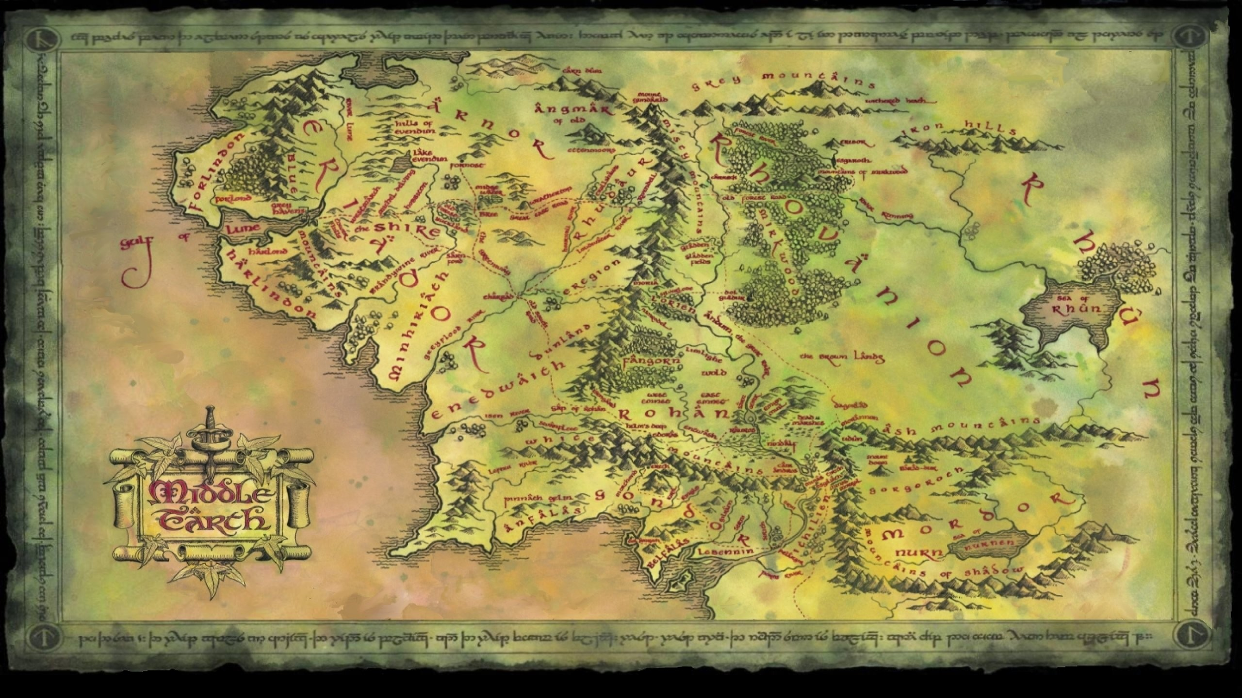 Earth Middle Shire Maps