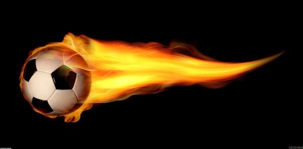 Flaming Soccer Ball Wallpaper 55