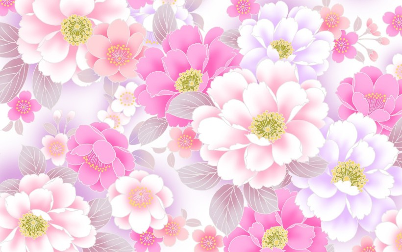 Pink flower wallpaper bedwalls pink flower wallpaper background 55 images mightylinksfo