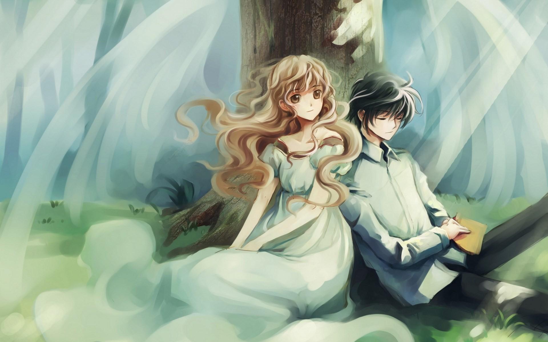 Free Desktop Wallpaper Beautiful Girl And Boy Fairies Anime Couple Wallpaper 74 Images