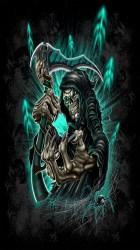 reaper skull grim skulls iphone wallpapers death tattoo zedge cool badass roses check ios src via gothic sugar deviantart res