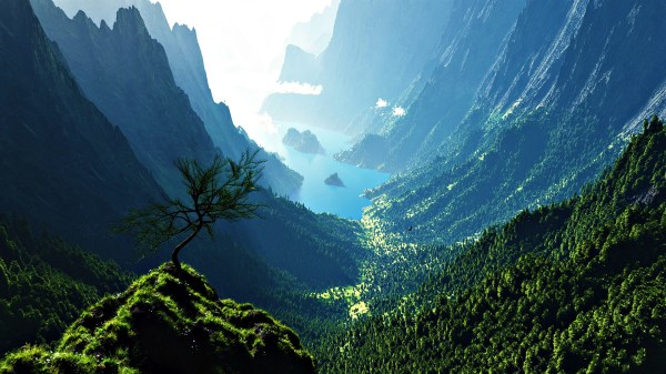 1920X1080 Mountain Valley