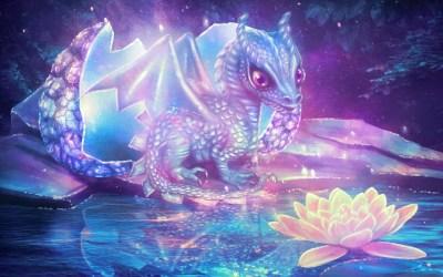 dragon purple fantasy