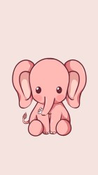 cute wallpapers elephant iphone pink phone backgrounds mobile hd kawaii panda phones elephants easy drawings aesthetic cow animal samsung pages