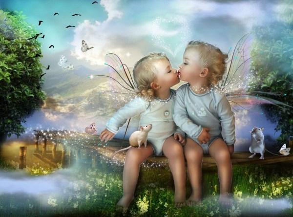 Desktop Images of Cute Baby Fairies