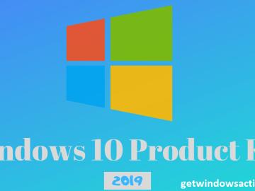 Windows 10 Product Key Free 2019