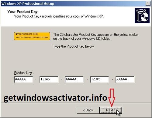 Windows XP Product Key