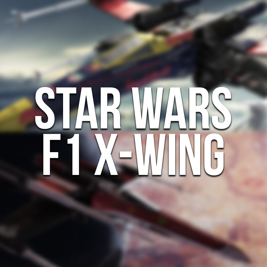 Star Wars F1 X-wing – Ferrari and Red Bull concepts