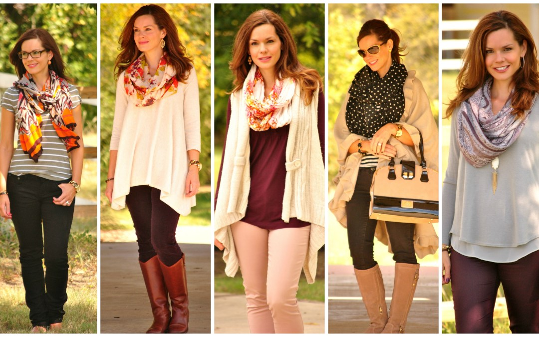 Casual Chic Outfit Basics | The Power Scarf