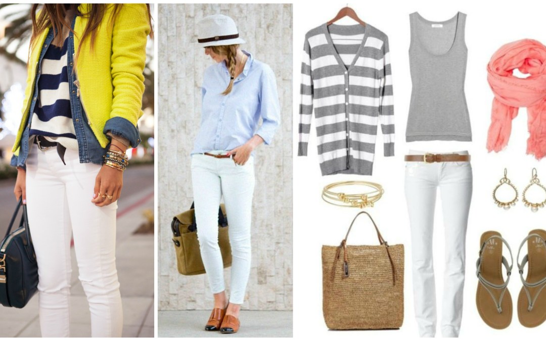 Casual Chic Outfit Basics | The Ultimate White Jeans Guide