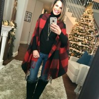 SAHMonday:  Buffalo Plaid Cape and UGG Boots
