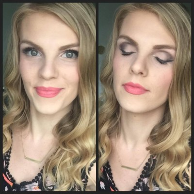 Makeup Tutorial:  Smoky Eye with a Pop of Color