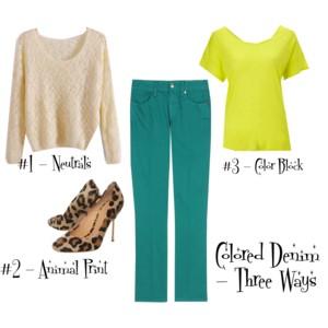 Mom Style | Three Ways to Wear Colored Denim