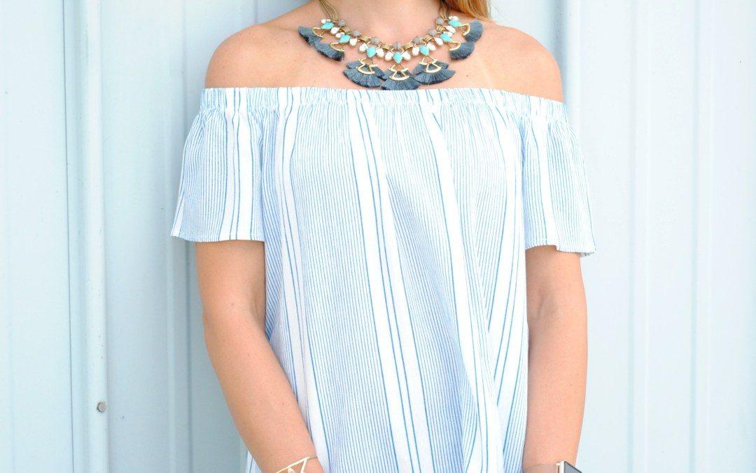 Summer Date Night Outfit:  Off the Shoulder