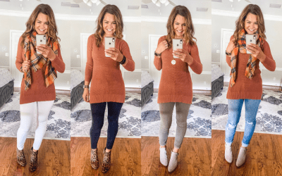 One Tunic Sweater Four Ways