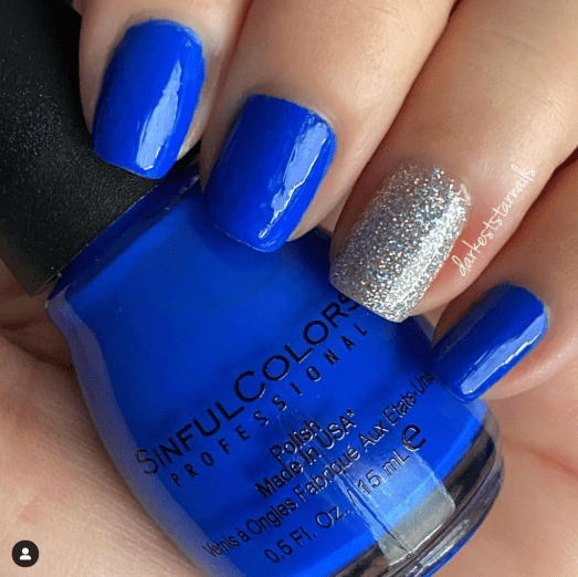 SINFUL COLORS ENDLESS BLUE & CHINA GLAZE GLITTER-IFFIC, Spring and Summer 2021 Nail Trends and Colors