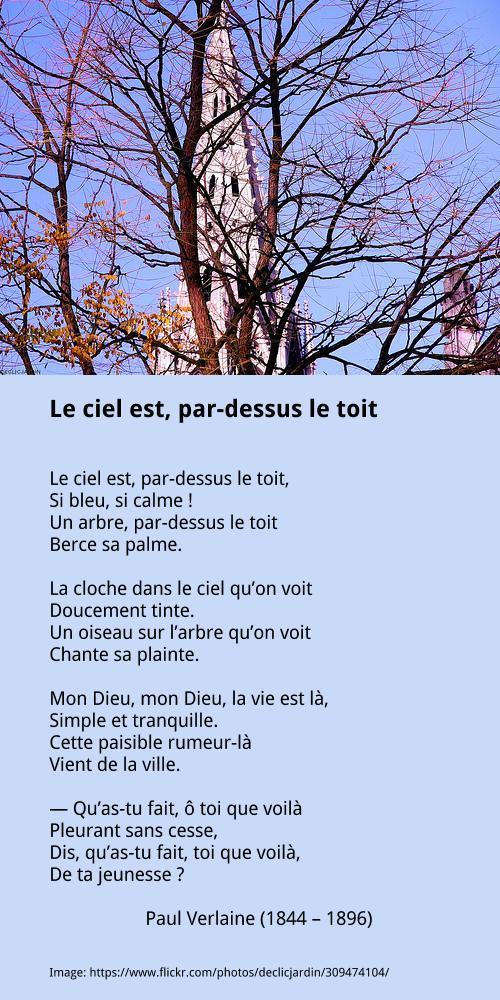 Le Ciel Par-dessus Le Toit : par-dessus, Verlaine, Par-dessus, Française