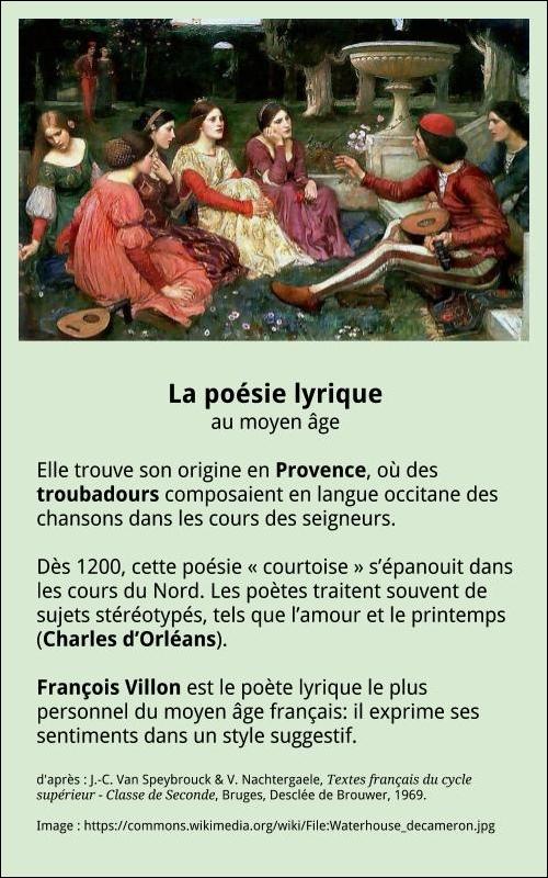 La Poésie Au Moyen Age : poésie, moyen, Poésie, Lyrique, Française