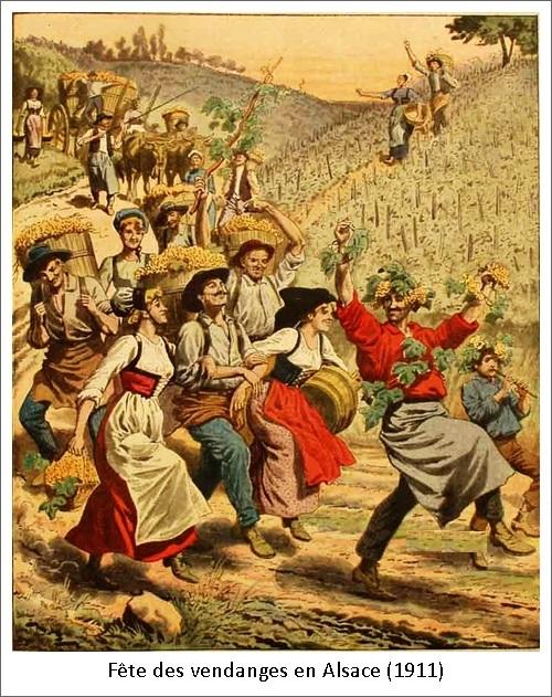 Fête des vendanges en Alsace (1911)