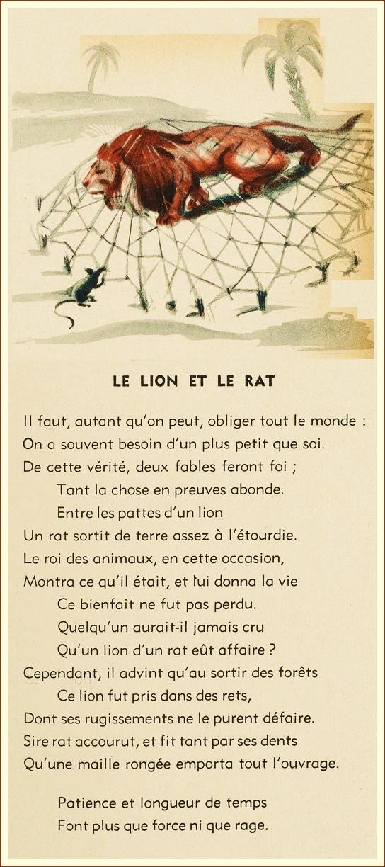 Le Lion Et Le Rat Analyse : analyse, Française