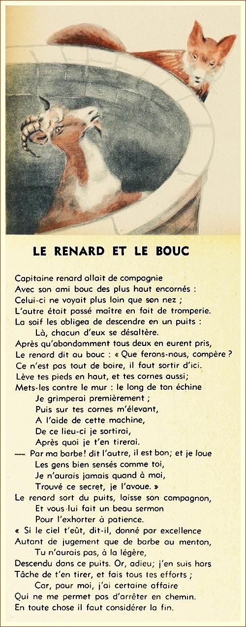 851_Le Renard et le Bouc texte et questions