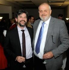 Jochen Fritz, Director de la Escuela de Pedagogías en Alemán y Ricardo Gevert